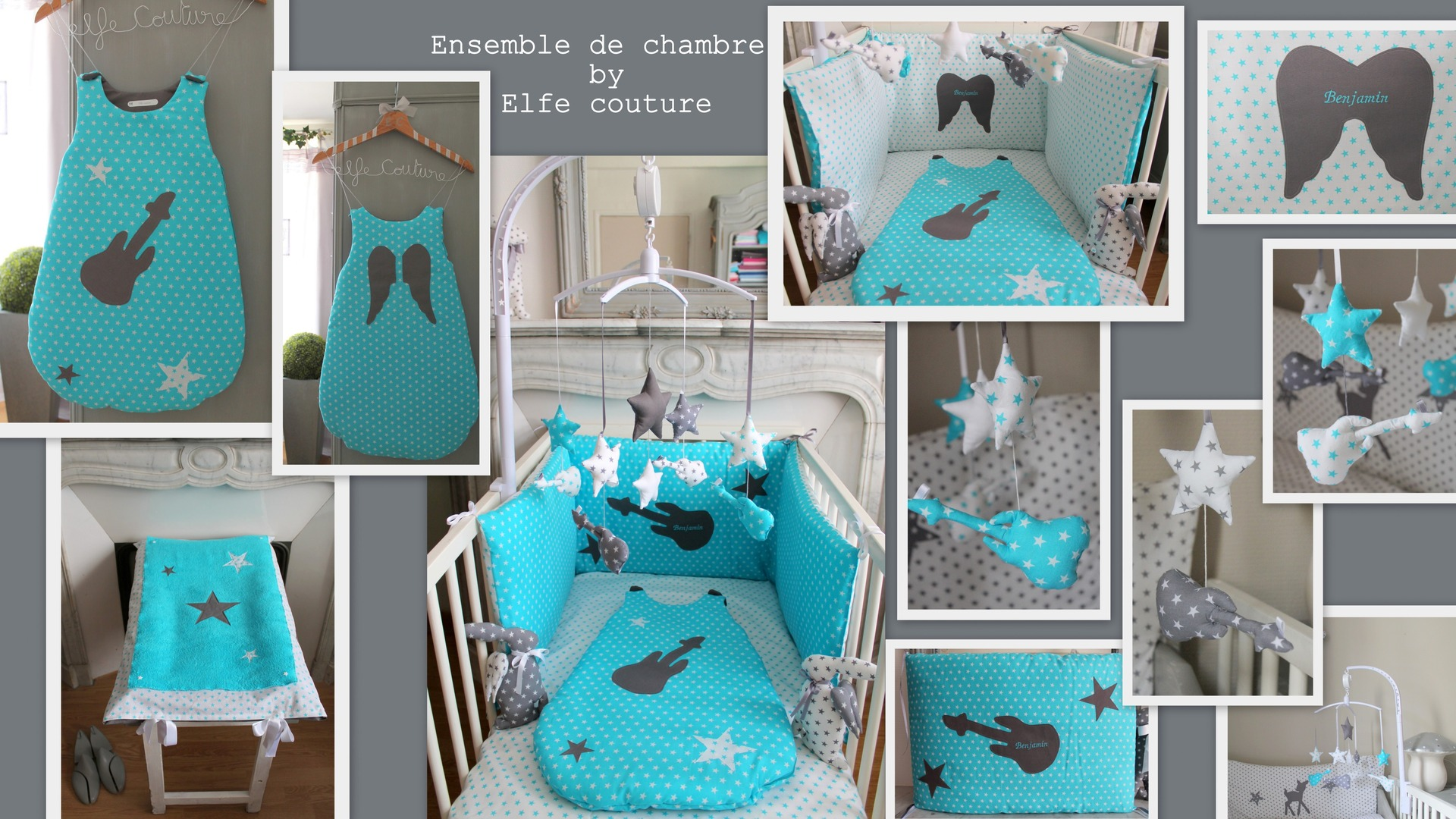Awesome Chambre Bebe Bleu Turquoise Et Gris Pictures - ansomone.us ...